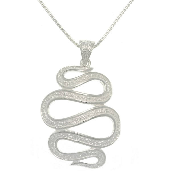 CGC Sterling Silver Snake Spiral Necklace
