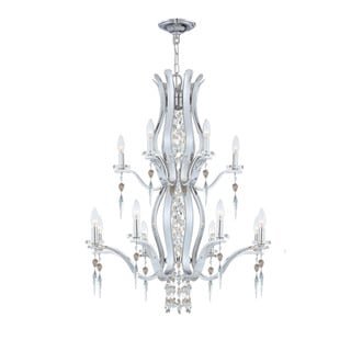 Flow 12-light Crystal Chandelier in Chrome