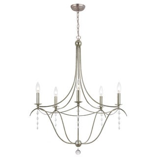 Metro 5-light Chandelier in Antique Silver