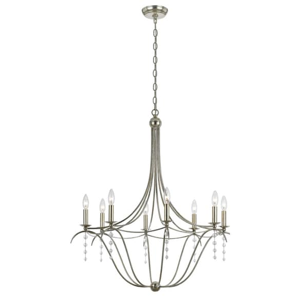 Metro 8-light Chandelier in Antique Silver