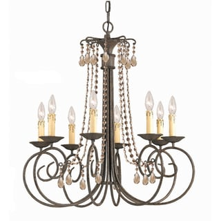Soho 8-light Crystal Chandelier in Dark Rust