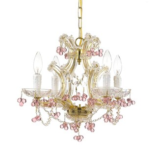 Maria Theresa 4-light Crystal Chandelier in Gold
