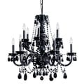 Transitional 12-light Black Crystal Chandelier