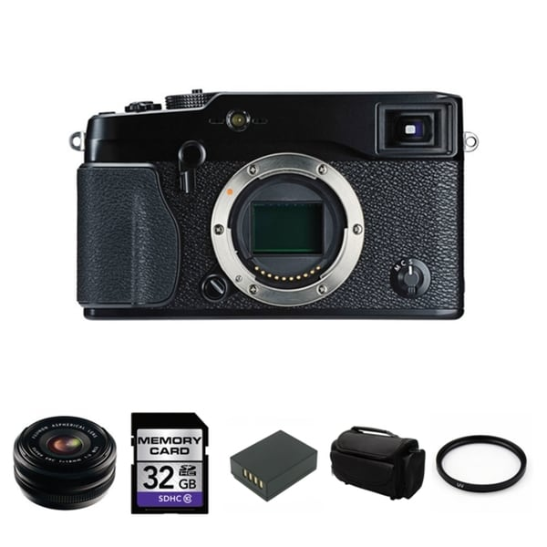 Fujifilm X-Pro1 16.3MP Digital SLR Camera with 18mm Lens Bundle