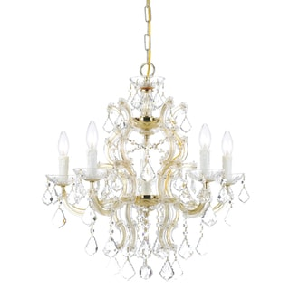 Maria Theresa 6-light Chandelier in Gold