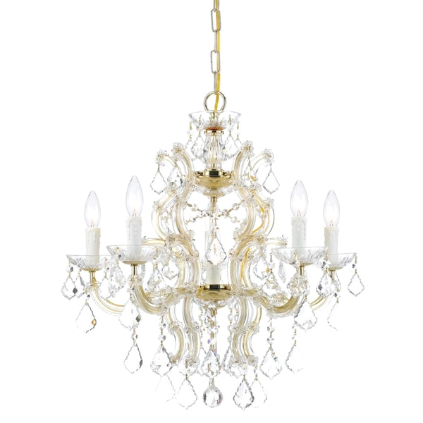 Crystorama Maria Theresa Collection 6-light Gold Chandelier