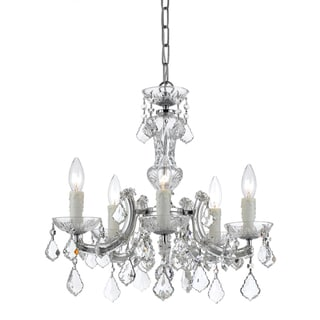 Maria Theresa 5-light Chandelier in Chrome
