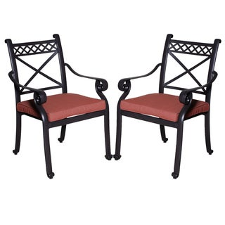 Santa Maria Wine/ Red Chili Dining Chairs (Set of 2)