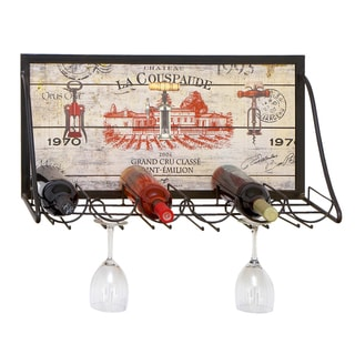 Chateau Wine Enthusiast Hanging Metal 6-bottle Wine Rack