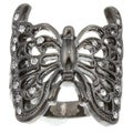 City Style Black-plated Cubic Zirconia Butterfly Ring