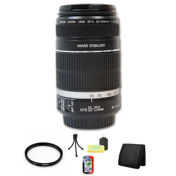 Canon EF-S 55-250mm f/4-5.6 IS II Lens Bundle
