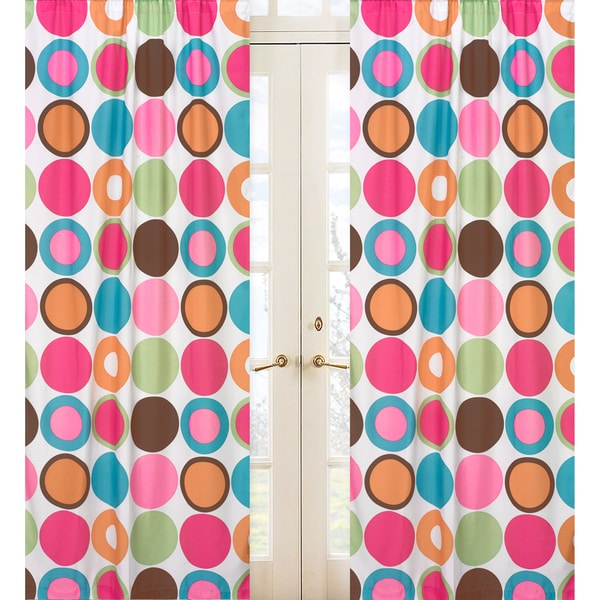 Deco Dot 84-inch Curtain Panel Pair