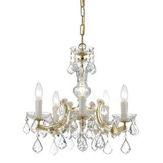 Maria Theresa 5-light Brass Chandelier