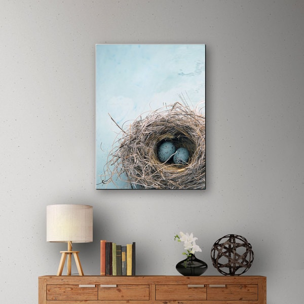 Elena Ray 'Blue Nest' Gallery-Wrapped Canvas 10835958