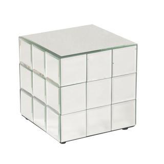 Allan Andrews Short Mirrored Puzzle Cube Pedestal