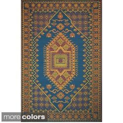 Thai Oriental Pattern Indoor/ Outdoor Floor Mat (4' x 6')