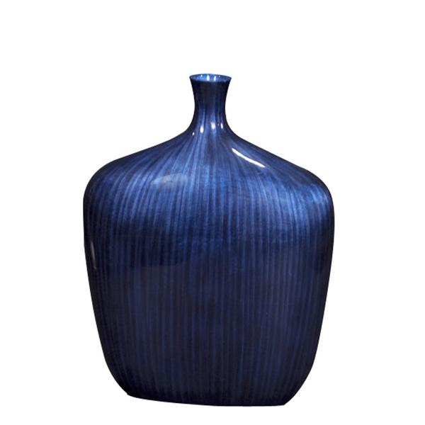 Small Sleek Cobalt Blue/ Black Vase