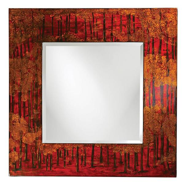 Mia Red Contemporary Mirror