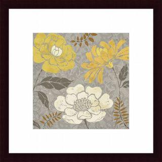 'Morning Tones Gold II' Floral Framed Art Print
