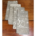 RLF Home Document Taupe Napkins (Set of 4)