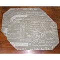 Document Taupe Placemats (Set of 4)