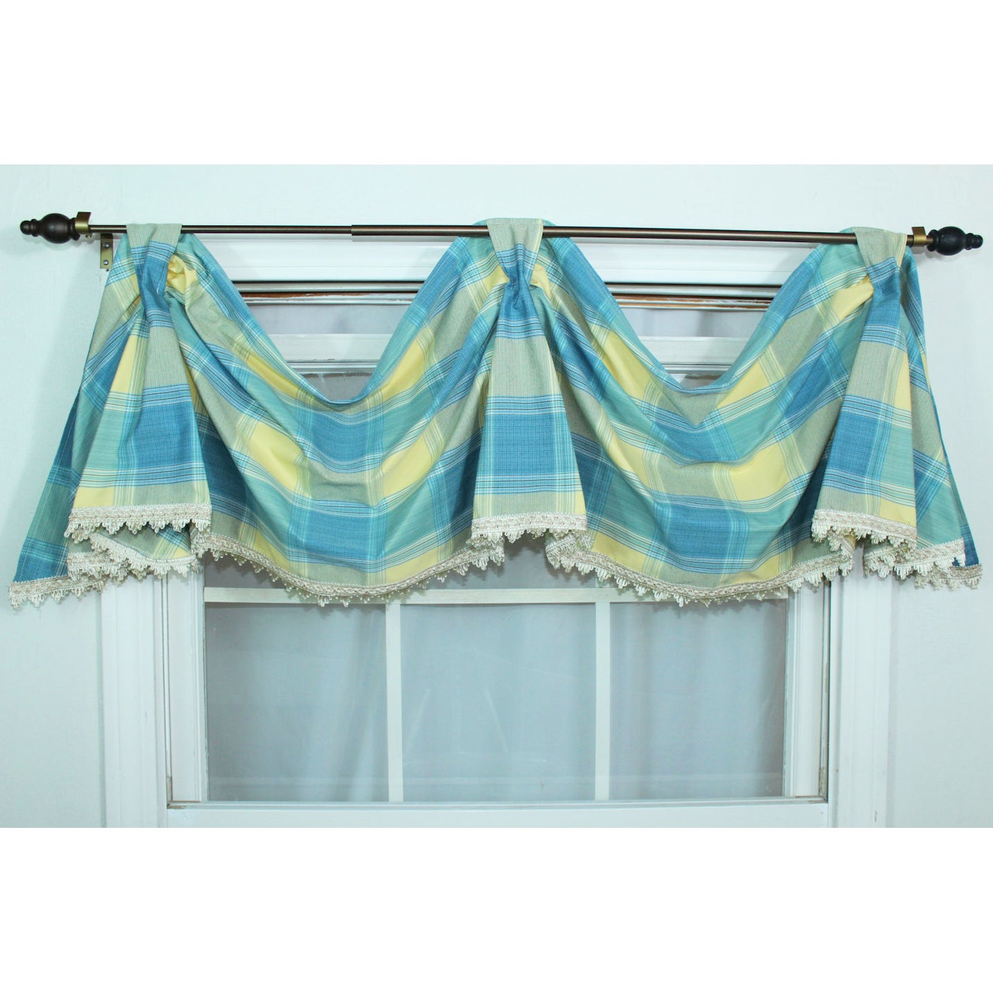 Rlf Home Duncaster Porcelain Celebration Window Valance at Sears.com