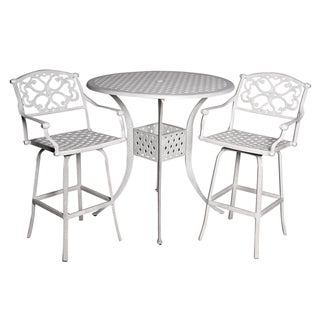 Fly Sandstone Cast Aluminum 3-piece Patio Table Set