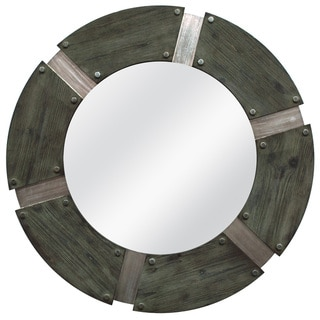 Rustic Industrial Round Mirror