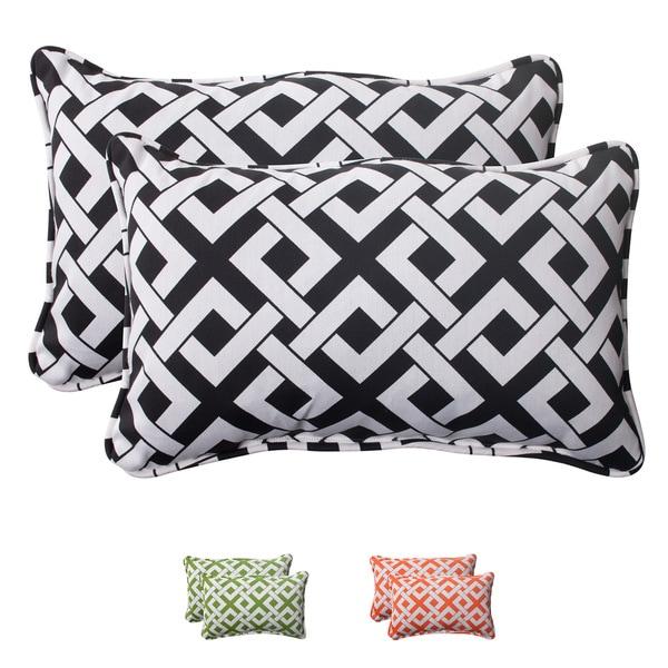 Pillow Perfect Outdoor Boxin Corded Rectangular Throw Pillow (Set of 2)