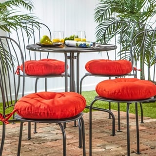 15-inch Round Outdoor Salsa Bistro Chair Cushion (Set of 4)
