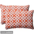 Pillow Perfect Outdoor Boxin Oversized Corded Rectangular Throw Pillow (Set of 2)