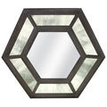 Antique Glass Hexagon Mirror