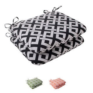 Pillow Perfect Outdoor Boxin Rounded Seat Cushion (Set of 2)