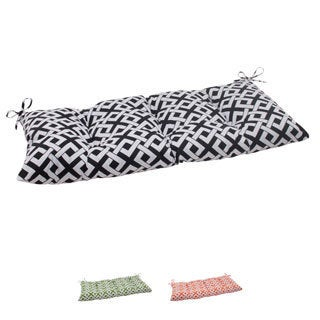 Pillow Perfect Outdoor Boxin Tufted Loveseat Cushion