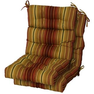 Persian Stripe Outdoor High-back Chair Cushions (Set of 2)