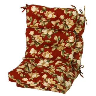 Palazzo Floral Outdoor High-back Chair Cushions (Set of 2)
