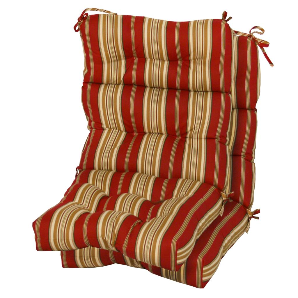 3 section Contemporary Outdoor Roma Stripe High Back Chair