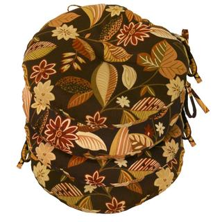 15-inch Round Outdoor Timberland Floral Bistro Chair Cushion (Set of 4)