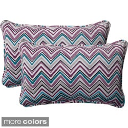 Pillow Perfect Outdoor Cosmo Chevron Corded Rectangular Throw Pillow (Set of 2)
