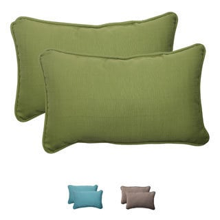 Pillow Perfect Outdoor Forsyth Corded Rectangular Throw Pillow (Set of 2)