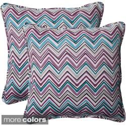 Pillow Perfect 'Cosmo Chevron' Outdoor Throw Pillows (Set of 2)