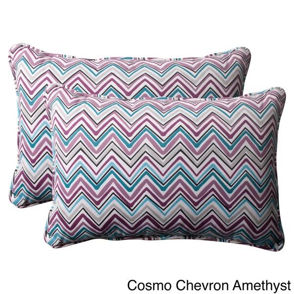 Pillow Perfect 'Cosmo Chevron' Oversized Outdoor Throw Pillows (Set of 2)