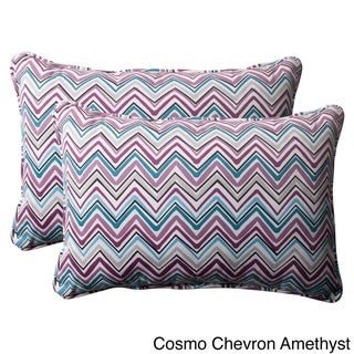 Pillow Perfect 'Cosmo Chevron' Oversized Outdoor Throw Pillows (Set of 2)