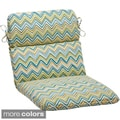 Pillow Perfect 'Cosmo Chevron' Outdoor Rounded Chair Cushion
