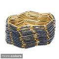 NEXTE Jewelry Goldtone Acrylic Bead 12-piece Bangle Set