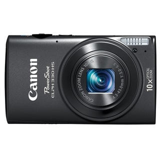 Canon PowerShot 330HS 12.1MP Black Digital Camera