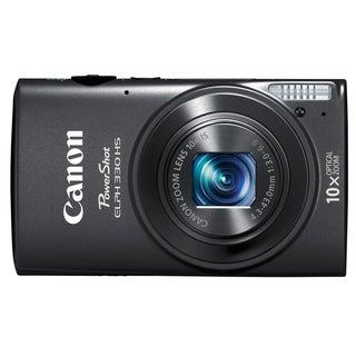 Canon PowerShot 330HS 12.1MP Black Digital Camera