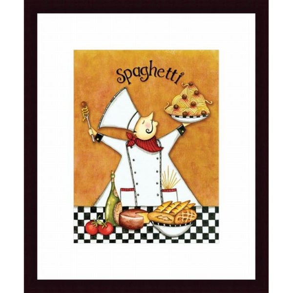 Chef Spaghetti Framed Print