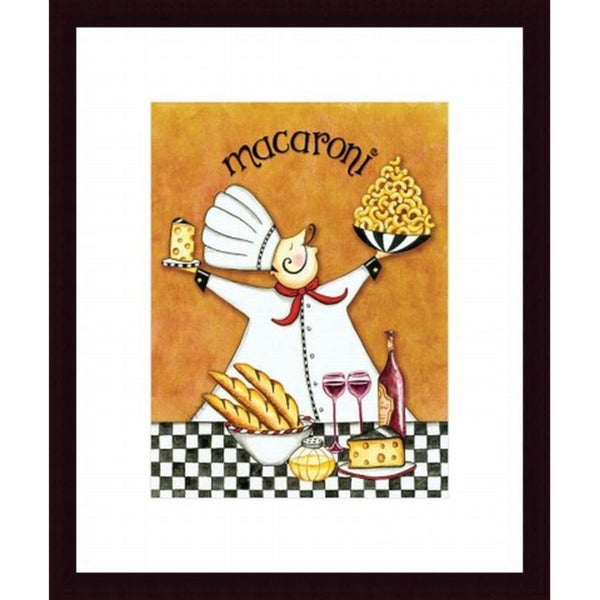 Chef Macaroni Framed Print