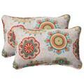 Pillow Perfect Outdoor Fairington Corded Aqua Rectangular Throw Pillow (Set of 2)